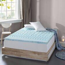 "Memory Foam Mattress Topper 3"" Blue Gel Comfortable Bedrooms Bed Spa - King Size"