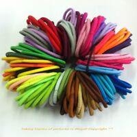 50 Quality Thick Endless Snag Free Hair Elastics Bobbles Bands Ponios Mix Lot
