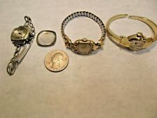 3 vintage Elgin De Luxe & Champ 10K & 18K Gold Filled Lady's Wrist Watches - NR