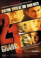 21 GRAMS - BRAND NEW & SEALED REGION 4 DVD  (BENICIO DEL TORO, NAOMI WATTS)