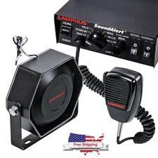 100W Car Truck Alarm Police Fire Loud Slim Speaker PA Siren Horn MIC System Kit