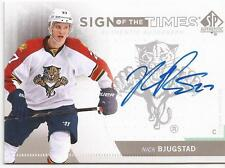 NICK BJUGSTAD 2013-14 SP Authentic Sign of the Times #SOT-NB **Group E**