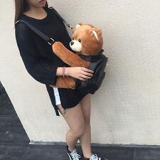 Fashion Leather Backpack Plush Teddy Bear Backpack/School bag leisure big