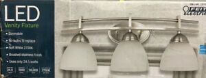 Feit Electric LED 3-Light Vanity, 1350 Lumens, Dimmable, Brushed Nickel Finish