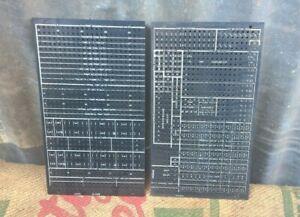 2 x Vintage IBM Plugboard Control Panel - Mainframe Computer Plug Board