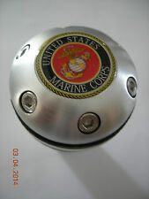 US MARINE CORPS  ALUMINUM LEATHER GEAR SHIFT KNOB UNIVERSAL BEER TAP CANE TOP
