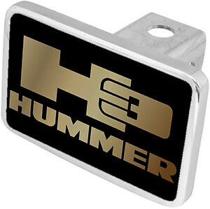 New Hummer H3 Gold Logo Tow Hitch Cover Plug