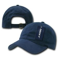 Navy Blue Low Crown Brushed Plain Solid Blank Golf Baseball Cap Caps Hat Hats