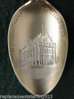 Sterling Souvenir Spoon Williamsport, PA Masonic Temple-Gold Washed Bowl
