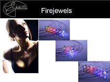 40030 Collier von Firejewel Bicone Weiß Kristall LED Halskette