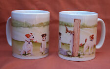 JACK RUSSELL TERRIER DOG MUG OFF TO THE DOG SHOW WATERCOLOUR PRINT SANDRA COEN
