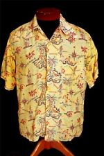 VERY RARE COLLECTABLE LATE 1930'S-EARLY 1940'S SILKY RAYON HAWAIIAN SHIRT SZ M+