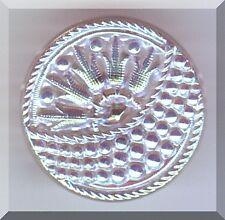"CZECH GLASS BUTTON - Basket w/ Flowers Clear Aurora Borealis 22 mm - 7/8"""