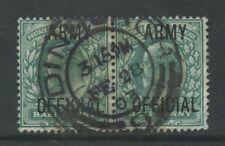 GB OFFICIAL ARMY KE7 1/2d PAIR...VF EDINBURGH CODE 9