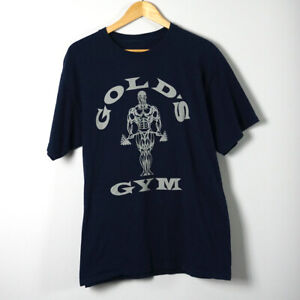 Golds Gym T-Shirt Size Large Silver Logo
