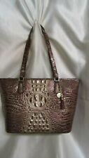 "WOMEN`S BRAHMIN ""MEDIIUM   ASHER""  PORT OMBRE MELBOURNE ZIP TOP TOTE HANDBAG NEW"