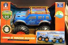 LAND & WATER ROVER Radio Controlled Amphibious Vehicle Blue CAR 49 MHZ