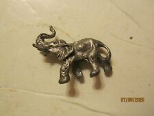 Vintage Small Cast Metal Elephant