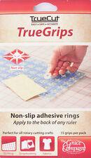 TRUECUT antidérapant ruler grips-transparent 15/Pkg