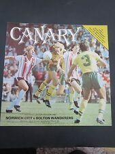 Norwich V Bolton   1978/9 1