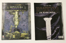 Rare Vintage Lot SHEET MUSIC Guitar Tab Books SEPULTURA CHAOS AD PANTERA METAL