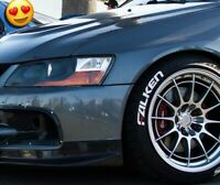 """tire lettering - FALKEN - 1"""" for 14""""15""""16""""17""""18""""19""""20"""" TİRE.  X8 decal"""