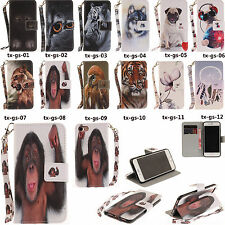TX For Samsung 2017 Series Phone Meng pet Wallet Card Leather Case Cover Skin