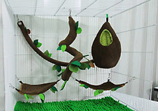 New listing 5 Pcs Kps Sugar Glider Hamster Squirrel Small Pet Chinchillas Cage Set Oval or E