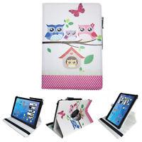 Tablet Tasche für Odys Maven 10 Pro plus 3G Hülle Etui Baby Eulen 10.1 Zoll 360