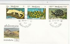 Laos 1984 Reptiles FDC Unadressed VGC