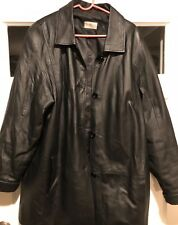 Women's Black Leather Coat by Tribeca Size XL