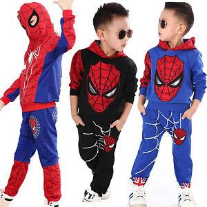 Spiderman Kinder Jungen Kapuzenpullover Hoodie Jacke Sweatshirt Hose Cos Kostüm