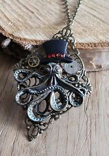 gothic steampunk uhr amulett octopus cyberpunk restyle nugoth hut corsage dark