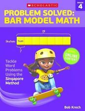 PROBLEM SOLVED BAR MODEL MATH, GRADE 4 - KRECH, BOB - NEW PAPERBACK BOOK