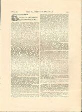 1892 STEAMER INDIANA TAKES FLOUR & WHEAT TO STARVING IN RUSSIA+Capt Sargent,Czar