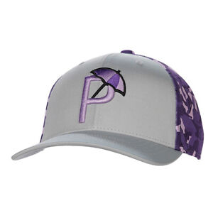 NEW Puma P110 Quarry Grey/Purple Arnold Palmer Camo Adjustable Golf Hat/Cap