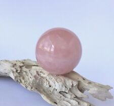 Natural Rose Quartz Orb Ball approx 75mm Love Peace Calm + stand 516g FREE POST