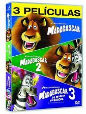 MADAGASCAR PACK COMPLETO DVD TRILOGIA 1 2 3 NUEVO ( SIN ABRIR ) 1-3 EDICION 2017