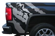 Custom Vinyl Graphics Decal Wrap Kit for 2014-17 GMC Sierra Parts RIPPED Silver