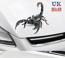 3D Scorpion voiture autocollant décalque graphique, animal, effrayant pare-chocs-Vendeur Britannique