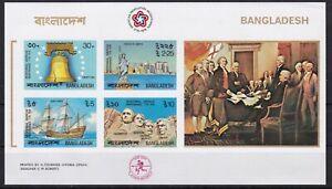 Bangladesch Block 2 B postfr. bicentennial USA Gemälde Schiffe IMPERF.