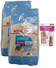 2x15kg Royal Canin Giant Junior +  80g Fleischsnacks