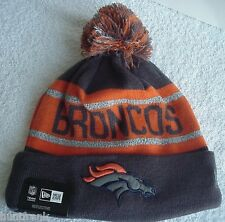Denver Broncos Sport Knit Pom-Top Reflective Cap NFL Licensed New Era Authentic