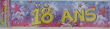 Banderole Guirlande Bannière 18 Ans Décoration de Salle ANNIVERSAIRE