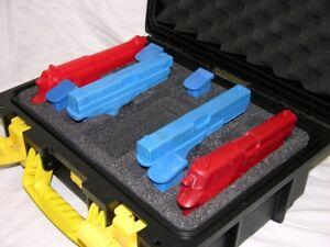 Precut 4 pistol handgun gun military foam insert fits your Invicta watch case