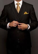 3 Piece Black Groomsmen Suits Wedding tuxedos Groom Best Man suit Custom Size