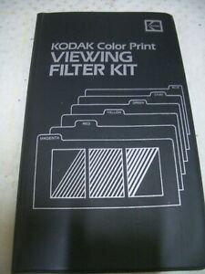 Kodak Color Print Viewing Filter kit ; Colour filter kit Sell for Charity