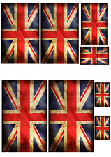 1/16 scale WW2 British flags on 100% cotton canvas. model/diorama military set 1