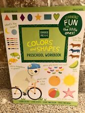Preschool/Kindergarten-SHAPES COLORS FUN-activity learning home school workbook