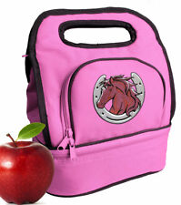 Horse Horseshoe Lunch Bag CUTE Lunchbox Cooler Bags